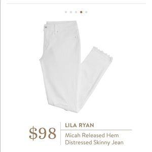 Stitch Fix Lila Ryan Micah Distressed White Jeans